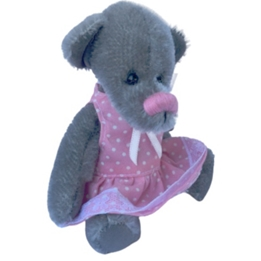 Clemens - Mjukisdjur Mouse Bianca 13 Cm Grå