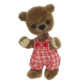 Clemens - Teddybjörn - Teddy Paddy 14 Cm Mörkbrun