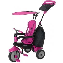 Smartrike - Barnvagn - 4-In-1-Trehjuling Glow Rosa/Svart