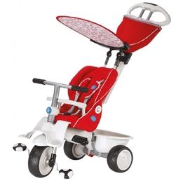 Smartrike - Trehjuling - 4-In-1-Trehjuling Recliner Junior Röd/Vit