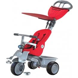 Smartrike - Barnvagn - 4-In-1-Trehjuling Recliner Junior Röd/Grå