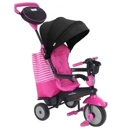 Smartrike - Trehjuling - 4-In-1-Trehjuling Swing Dlx Rosa/Svart