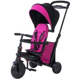 Smartrike - Barnvagn - 7-In-1-Trehjuling Smartfold 500 Svart/Rosa