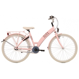 Bike Fun - Barncykel - Lots Of Love 26 Tum 3 Växlar Rosa/Vit