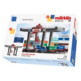 Marklin - Tågbana Container Terminal Grå/Röd