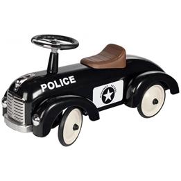 Goki - Sparkbil - Polisbil 75 Cm Svart