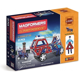 Magformers - Construction Toy XL Cruiser Emergency