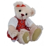 Clemens - Teddybjörn - Abigail Junior 35 Cm Plush Beige/Röd
