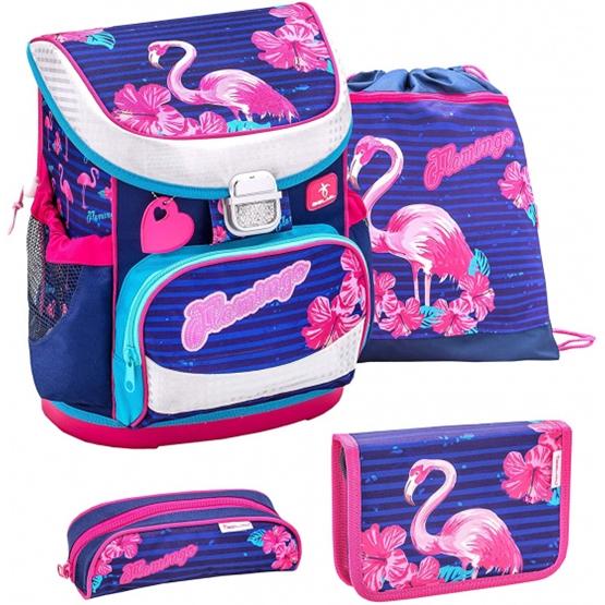 Belmil - Skolset - Set Flamingo 19 Liter Polyester Rosa