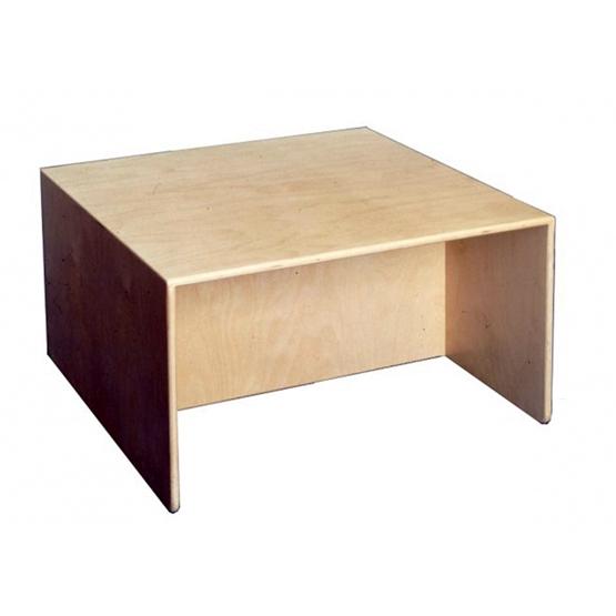 Van Dijk Toys - Cubic Table And Bench 75 X 75 X 40 Cm Wood Natural