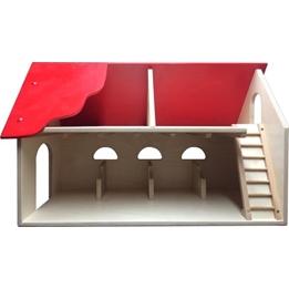 Van Dijk Toys - Stall Natural/Röd