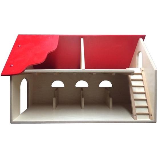 Van Dijk Toys - Junior Farm 60 X 28 X 39 Cm Wood Natural/Röd