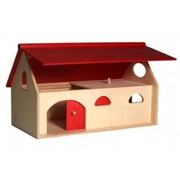 Van Dijk Toys - Farmhus Natural/Röd