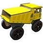 Bambam - Truck Boys 50 Cm Wood Gul/Svart/Naturel 12-Piece