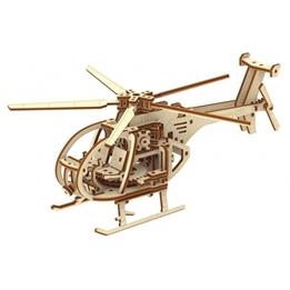 Wooden City - Modellsats Helikopter Brun 173 Delar