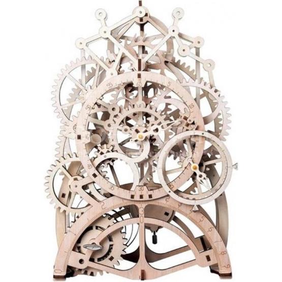 Robotime - Building Set Pendulum Clock Wood Beige 166-Piece