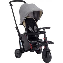 Smartrike - Barnvagn - 7-In-1 Trehjuling Smartfold 600S Junior Svart/Grå