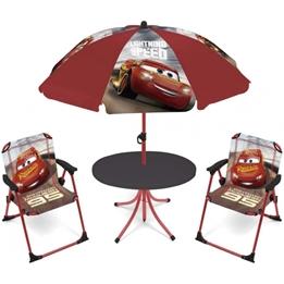 Disney - Garden Set With Parasol Cars Polyester Röd 4 Delar