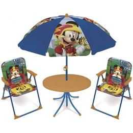 Disney - Garden Set With Parasol Mickey Mouse 4 Delar