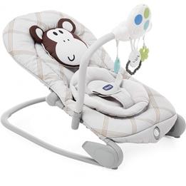 Chicco - Rocking Chair Relax Balloon Monkey 47 X 62 Cm Aluminium Grå