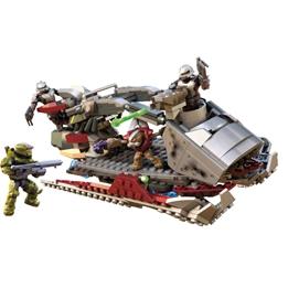 Mega Construx - Modelleksak Halo Skiff Grå/Röd 452 Delar