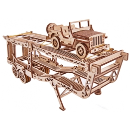 Wood Trick - Modellbygge Bil Med Trailer 229 Delar
