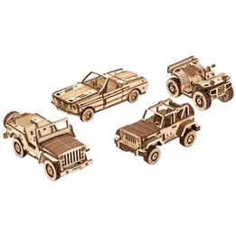 Wood Trick - Modelleksak Trä 4 Bilar 338 Delar