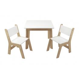 Arditex - Bord Och Stolar - Junior 60 X 48 Cm Wood Vit/Beige 3-Piece