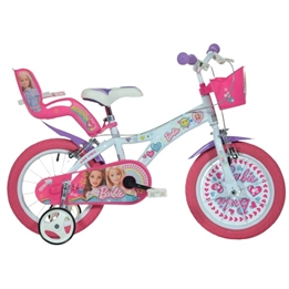 Dino - Barncykel - Barbie 14 Tum Rosa/Vit