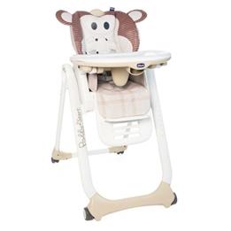 Chicco - Matstol Polly 2 Start Monkey 88-107 Cm Vit