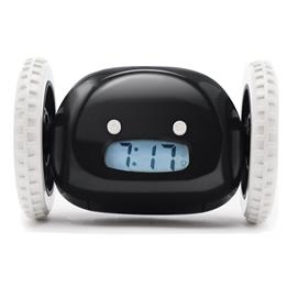 Clocky - Alarmklocka På Hjul 13,5 X 9 X 9 Cm Plastic Svart