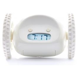 Clocky - Alarmklocka På Hjul 13,5 X 9 X 9 Cm Plastic Vit