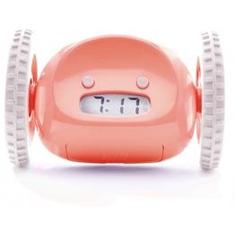 Clocky - Alarmklocka På Hjul 13,5 X 9 X 9 Cm Plastic Rosa