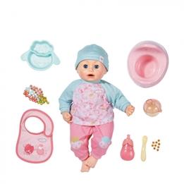 Baby Annabell - Lunch Set Docka 43 Cm Rosa/Blå 10 Delar