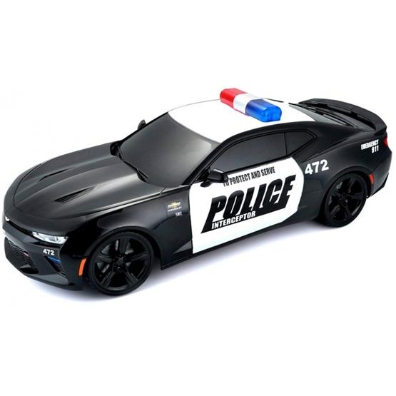 Maisto - Police Car Rc Chevrolet Camaro 30 X 15 Cm 2,4 Ghz Svart