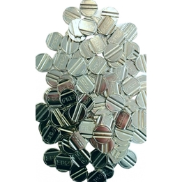 Fas - Table Football Tokens Steel Silver 100 Pcs