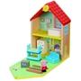 Nickelodeon - Playset Family House Peppa Pig 30 Cm Wood 7-Piece