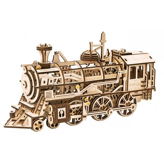 Robotime - Model Kit Locomotive 37 Cm Mdf 350 Parts
