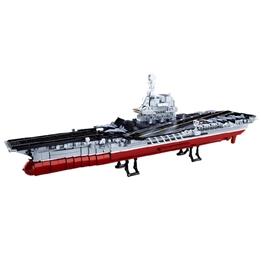 Sluban - Modellsats Aircraft Carrier Röd/Grå 1633 Delar