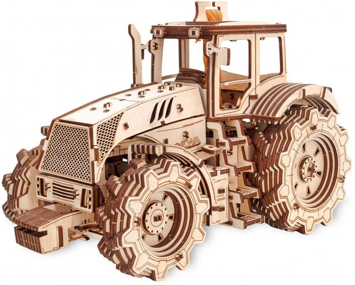 Eco-Wood-Art - Model Kit Tractor 20.7 Cm Wood 357 Parts