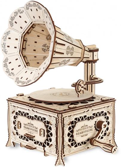 Eco-Wood-Art - Model Kit Gramophone 31,5 Cm Wood 357 Parts