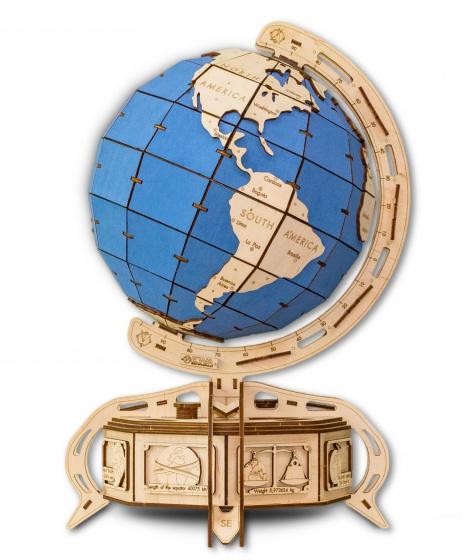 Eco-Wood-Art - Model Kit The Blå Globe Wood 393 Parts
