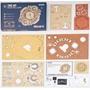 Robotime - Building Kit Zodiac Wall Clock 33,5 X 5,5 Cm Wood