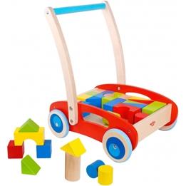 Tooky Toy - Gåvagn Med Block