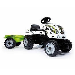 Smoby - Traction Tractor Farmer Xl Cow Junior Vit/Grön 2-Parts