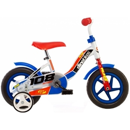 Dino - Barncykel - 108 Sport 10 Tum Vit