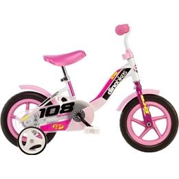 Dino - Barncykel - 108L-Girl 10 Tum Vit