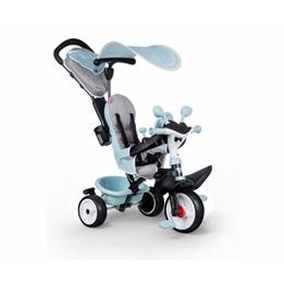 Smoby - Trehjuling - Baby Driver Plus Junior Blå/Grå
