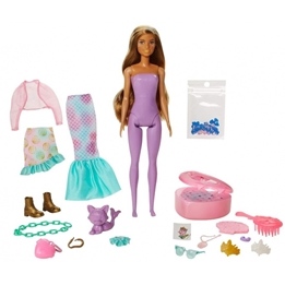 Barbie - Surprise Doll Color Reveal Girls Lila 15-Piece