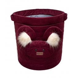 Kinder Hop - Storage Basket Teddy 45 X 48 Cm Röd